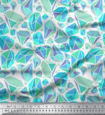 Soimoi Fabric Snowflakes & Diamond Geometric Fabric Prints By Meter - GMD-589H