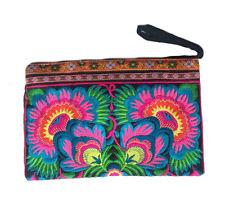 Hmong Ethnic Boho HandmadeLarge Deluxe Flower Clutch Bag Brand New from Thailand