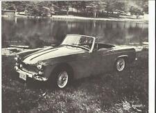 "MG Midget MK II 'SALES BROCHURE ""foglio 1966 mercato USA"