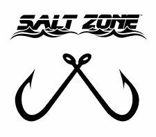 Salt Zone Logo Window decal sticker ,reel, life,hooks fishing saltwater rod