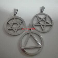 Wholesale 5pcs Lot Stainless Steel Geometric design Charm Pendant No chain Mens