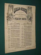 Partition Chant et piano Félicien DAVID Lalla-Roukh Mélodie n°2