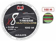 Tresse Adam's X8 Multicolore 100m - Neuf