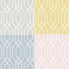 Geometric Ultra Modern Wallpaper New York Trellis Hexagon 4 Colours Arthouse