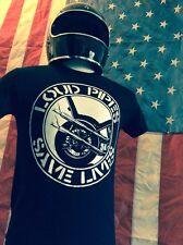 LOUD PIPES SAVE LIVES SHIRT biker crass anarcho punk chopper harley davidson vtg