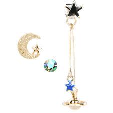 Orb Moon stars 3 pcs set of stud earrings body jewellery decoration for women