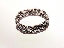 schmaler Flechtring Bandring 925 Sterling Silber Ring Gr 49-57*15,6-18,1mm Neu
