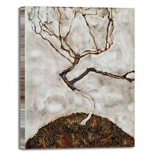 Schiele albero autunno design quadro stampa tela dipinto telaio arredo casa