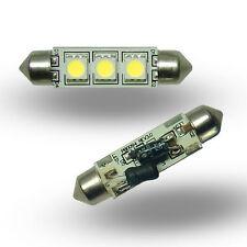 Festoon 42mm 3SMD 12v 24v (10-30v) DC 0.6W Cool White LED Bulb Caravan Boat 0908