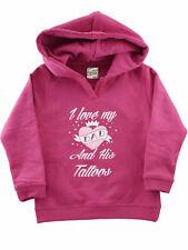 Darkside Baby Hoodie I Love My Dad And His Tattoos Kind Kleinkind Pink 5012