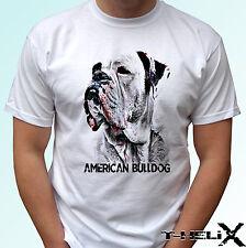 américain Bulldog tête - Chien T-shirt haut modèle - Hommes Femmes Enfants Bébé