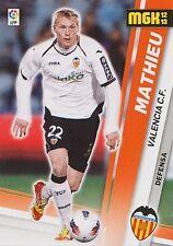 N°314 JEREMY MATHIEU # FRANCE VALENCIA.CF OFFICIAL TRADING CARD PANINI LIGA 2013