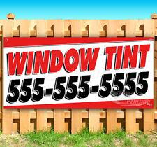 Window Tint Phone # Advertising Vinyl Banner Flag Sign Many Sizes Usa