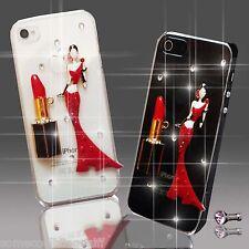 Vestido De Lápiz Labial Diamante móvil Funda Protectora Samsung Iphone Sony Htc 4s 5 5s S6 S5 7