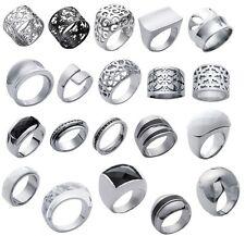 anillo de mujer DISEÑo de acero inoxidable y cerámica o resina a elegir