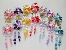 Japanese Hairpin Hair clip Tassel Tsumami zaiku for Hanfu Kimono Geisha Gift
