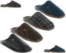 Dunlop Pantuflas Cálido Para Invierno Planos Sin Cordones Acolchada Hombre