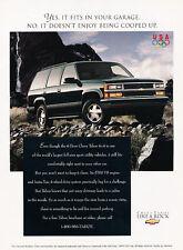 1996 Chevrolet Tahoe - 4x4 -  Classic Vintage Advertisement Ad D07