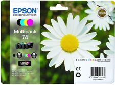 Epson 18 - T1806 Multi Pack Original OEM Inkjet Cartridges (Set of 4) B,C,M & Y