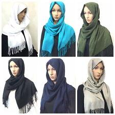 Calidad Bufanda De Mujer Pañuelo Mantón Jimar musulmán Pañuelo Hijab islam