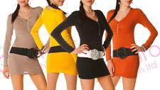 Womens Mini Dress with Zipper Bodycon Style Attractive Fashion Tunic Laura 4050