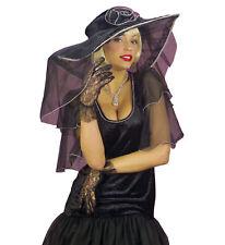 WIDMANN Guanti pizzo neri accessori carnevale halloween mod. 4618N