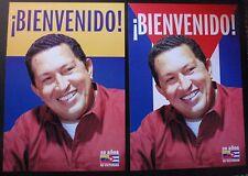 3 Original Cuban HUGO CHAVEZ Posters for ex-Venezuelan Leader's 2009 Cuba Visit