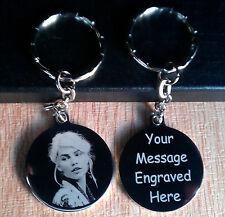 Personalised Photo Engraved Circle KeyChain Keyring Birthday Wedding Xmas Gifts