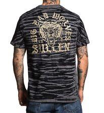 Sullen Art Collective Big Bad Wolves Striped Goth Urban Tattooed T Shirt SCM1907
