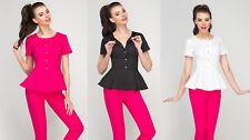 Victoria Uniform Peplum Top Beauty Long Tunic Massage Spa Health Work NailSalon