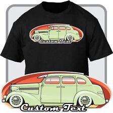Custom Art T-Shirt 1938 38 Chevy Chevrolet Master deluxe 4 door sedan