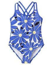 GYMBOREE FLOWER SHOWERS BLUE w/ DAISIES A/O 1-PC SWIM 3 4 5 6 7 8 9 10 NWT