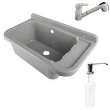 Ausgussbecken 50x34x27 Waschbecken Waschtrog Armatur AblaufgarniturSeifenspender