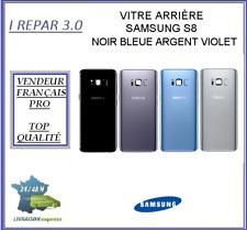 Vitre Arrière Samsung S8  Noir Bleu Argent ou Violet