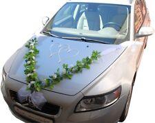 Brautauto Dekoration Autoschmuck Hochzeitsauto Autogirlande Autodeko G6 Weiß