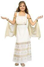 Golden Goddess Halloween Costume Girls Cleopatra Roman Gown Princess New