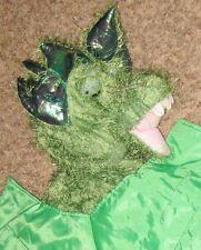 "Plush Green Orange 29"" Dinosauer Dragon Costume w Iridecent Ears & Tail"
