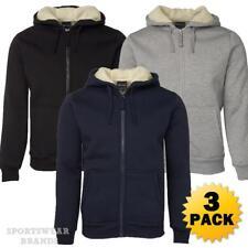 3 x Mens Shepherd Hoodie Jacket Hooded Contrast Fleece Size S-5XL Winter New 3SH