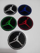 Parche bordado para coser estilo JORDAN redondo 5,5 cm adorno ropa personalizada