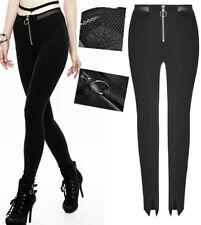 Pantalon gothique punk lolita fashion burlesque résille zippé fendu Punkrave