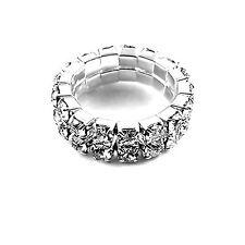 1, 2, 3, 4, 5, 6 filas Cristal estiramiento anillo múltiples opciones