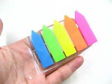 3 paquetes de Flecha flúor reposicionables Adhesivo Nota Adhesiva índice de Marcador Etiqueta Marcador