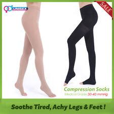 30-40 mmHg Compression Pantyhose Medical Tights Edema Travel Flight Stockings