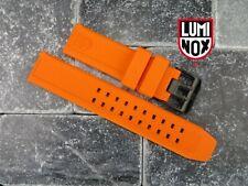 LUMINOX 23mm Rubber Strap EVO Watch Band 3050 3950 Colormark Navy Seal Orange BK