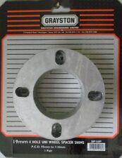 GRAYSTON Pack de 2 entretoises roue universel 4 cales de réglage 19mm stud PCD 95-114mm paire