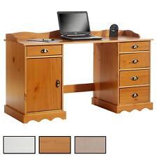 Bureau multi rangements tiroirs placard et corniche pin massif