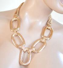 COLLANA ORO donna catena anelli ovali fili dorati ELEGANTE collier cerimonia 715