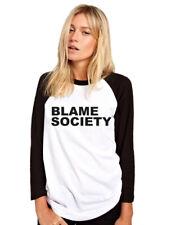 Culpar a la sociedad-Rebelde Anarquía Top para Mujer de béisbol