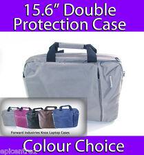 "Knox Clamshell Laptop Case 15.6"" Bolsa De Portátil Doble Protección de plata brillante"