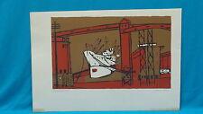 "70's SIGNED CLAIRE V DORST (1922-2011) LITHOGRAPH ""WHITE BOAT #1"" No 5/22"